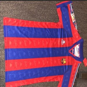 Retro Barcelona Soccer Jersey